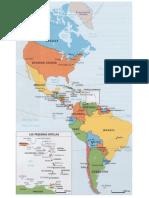 Mapa américa y sus capitales