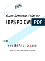 IBPS PO III Quick Reference Guide