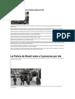 La Policía de Brasil mata a 5 personas por día