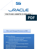 Oracle R12 Fixed Assets Changes From 11i