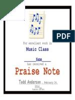 Praise Note 2