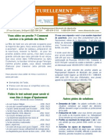 Bulletin Aider naturellement déc. 2013 Volume 1 no.1