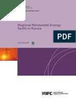 Regional Renewable Energy Tariffs in Russia