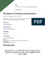 The Basics of Islamic Jurisprudeence
