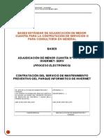 MODELO Mantenimiento Preventivo Equipamiento Informático