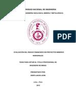 Evaluacion Del Riesto Financiero en Proyectos Mineros Marginales