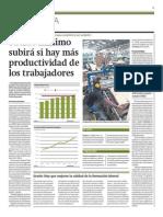 Sueldo mínimo subirá si hay más productividad de los trabajadores -  Miguel Jaramillo - Gestión - 240214