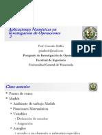 Clase 2 Aplicaciones Numéricas en Investigación de Operaciones
