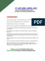 Current Affairs April
