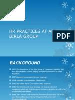 Hr Practices at Aditya Birla Group