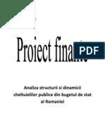 Proiect Finante