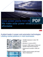 Solar Power Plants From Abb We Make Solar Power Reliable and Affordable