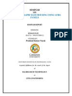 A Seminar Report on Affordable Rapid Mass Housing Using GFRG Panels