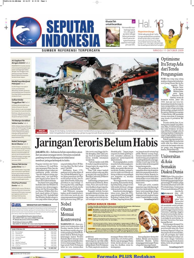 Digital Harian Seputar Indonesia Edisi 11 Oktober 2009 14cd40fa45