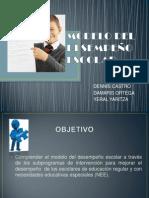 MODELO DEL DESEMPEÑO ESCOLAR DIAPOSITIVAS