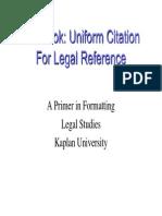 Blue Book Citation Format