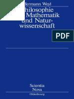 Philosophie Der Mathematik - Hermann Weyl
