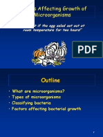 Factors Affecting Microbial Growth - pp presentation