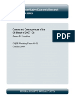Causes and consequences of the oil shock of 2007–08
