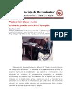Lenin - Actitud Del Partido Obrero Frente a La Religion