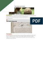 6 Insane Discoveries (Voynich Man)