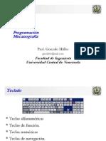 Clase Programacion Practica 01 - 02 Mecanografía