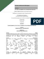 Reglamento a La Ley General de Registro Publicos