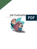 Job Evaluation (Finale)