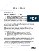 """5 Projects approved, dubbed """"Super Tuesday"""""""