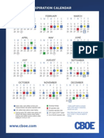 CBOE 2012 Options Expiration Calendar