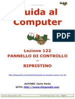 Guida al Computer - Lezione 122 - Pannello di Controllo - Ripristino