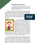 ensayo DE CIENCIAS NATRALES  6º GRADO