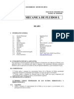 Silabus Final Mecanica de Fluidos I-2014-0