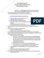 joint staffing process and procedures -full-time faculty