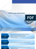 RCOM's subsea cable business (April 2012)