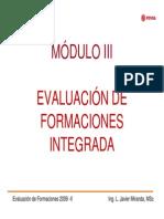 Modulo III Evaluacion de Formaciones Integrada