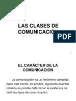 3.- Las Clases de Comunicacion