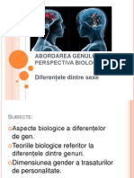 Abordarea Biologica a Genului