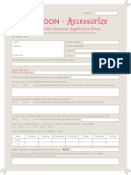 Branch Sales Application Form