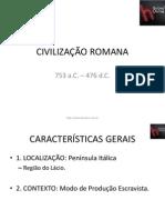 Civilizac3a7c3a3o Romana Slides