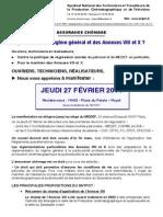 SNTPCT Appel Manifestation Ass Chomage Le 27 02 Du 24-02-2014