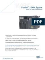 Alpha - Planta Rectificadora de 115-220V - Hoja Técnica - Cordex 1100W - Máximo 3300W
