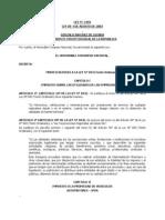 Ley N° 2493 de 04-08-2003 - Modificaciones a la Ley Nº 843