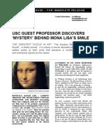 "LG Williams Discovers ""The Mystery of The Mona Lisa"" by Leonardo da Vinci 2005"