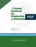 X Censo General de Población y Vivienda, 1980