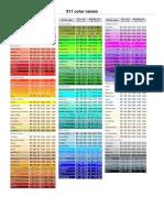 X11 Color Names