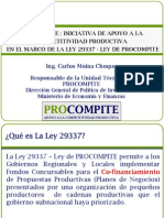 Procompite - Ley 29337