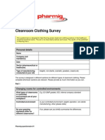 Pharmig Cleanroom Clothing Survey - 2014