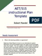 instructional plan template robert mandel final