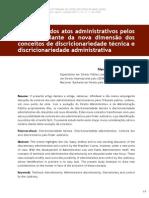 O controle dos atos administrativos pelos tribunais diante da nova dimensão dos conceitos de discricionariedade - Edgard Rocha Torres